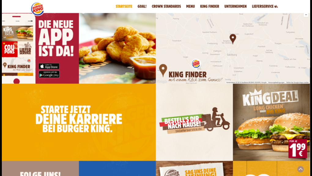 Pimcore provided a multi-lingual content management framework solution for Burger King - 1