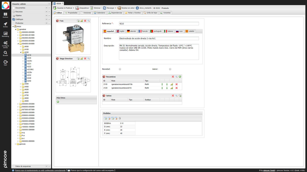 Single source database for manufacturing company